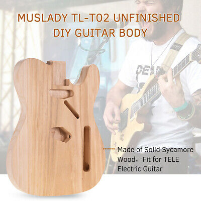 Muslady Unfinished Electric Guitar Body For TELE Style Guitars DIY Parts M0G0