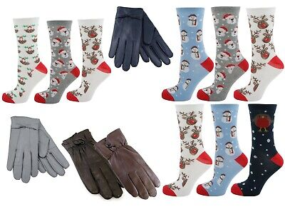 50 Ladies Christmas Socks & Gloves Ideal for Secret Santa Stocking Filler Gifts