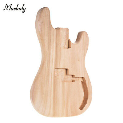Muslady DIY PB Style Bass Guitar Body Barrel Sycamore Wood Unfinished Parts J7P8