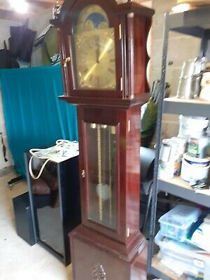 Longcase Grandfather 8 Day Clock with Westminster Chimes west Germany 1954.