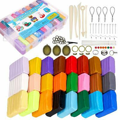 EDIFON Polymer Clay 26 Colors Modelling With Creations Book And 5 Modeling Set