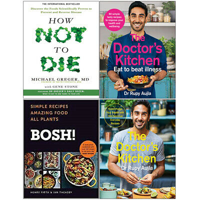 Doctor's Kitchen, Eat to Beat Illness, BOSH, How Not To Die, 4 Books Set NEW