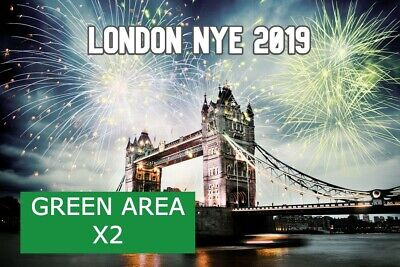 2019 London New Year Fireworks Tickets  X2 GREEN AREA