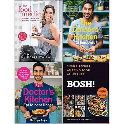 Food Medic, Doctor's Kitchen, Eat to Beat Illness, BOSH 4 Books Collection Set