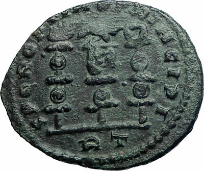LICNIUS I Authentic Ancient 312AD Rome Roman Coin w LEGIONARY STANDARDS i79768