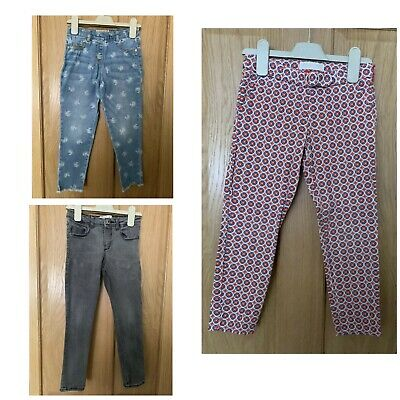 Bundle Of Next & Zara Girls Jeans / Trousers - 5-6 & 6 Years