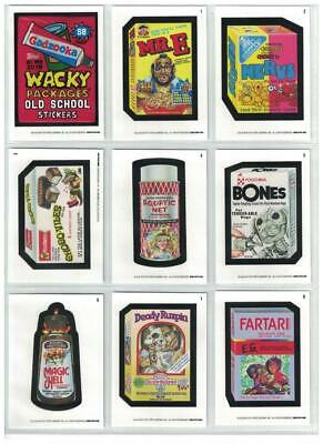 2019 Topps Wacky Packages Old School 8th Series 8 Complete White Set 31/31 NEW!