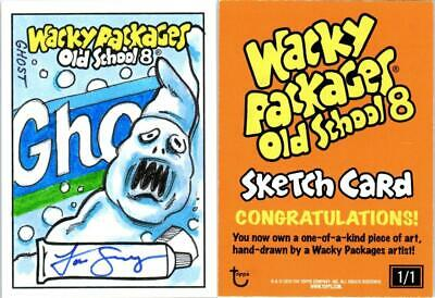 2019 Topps Wacky Packages Old School 8th Series Sketch GHOST by Jon Gregory