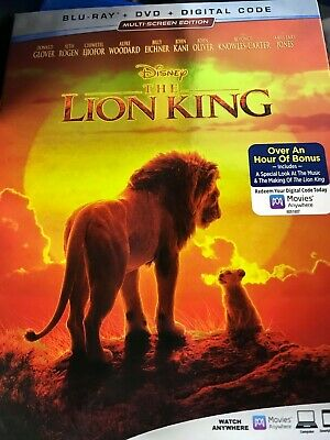 NEW / SEALED The Lion King 2019  multi screen edition (Blu-Ray + DVD + Digital )