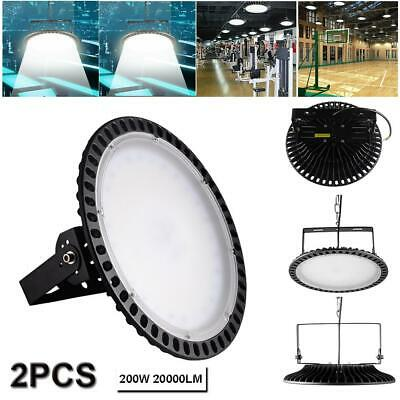 2X200W LED High Bay Light Commercial Warehouse Industrial Factory Gym Lamp Cool