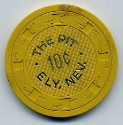 10¢ Casino chip (The Pit, Ely, Nevada) V3223 - See scans - Some Stains