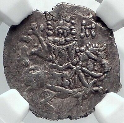 BASIL Emperor of EMPIRE of TREBIZOND 1332AD Silver Byzantine Coin NGC i81807