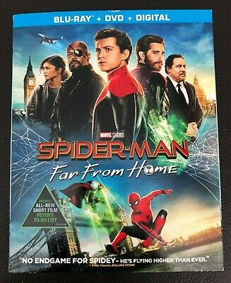 Spider Man Far From Home Blu Ray + DVD + Digital Brand New Sealed with Slipcover