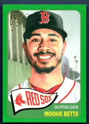 Mookie Betts 128/250 Green Heritage 2019 Topps Gallery HT-5 Red Sox MINT MLB