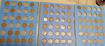Whitman No. 1 Lincoln Head Cent Album 1909-1940 W/58 Different Wheat Pennies