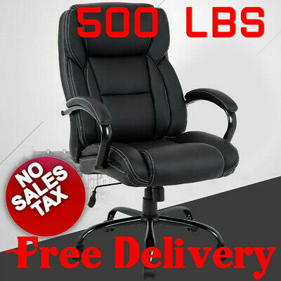 500 lb Heavy Duty Big and Tall High Back Desk Executive Ergonomic leather Chair