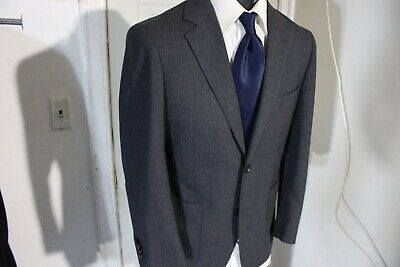 Suitsupply Size 38 Short Gray 2 Button Wool Sportcoat