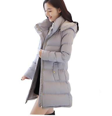 Ladies Padded Thick Warm Hooded Parka Outwear Overcoat Long Jacket Winter Coat