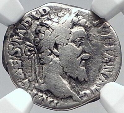 DIDIUS JULIANUS Very Rare Authentic Ancient 193AD Silver Roman Coin NGC i81822