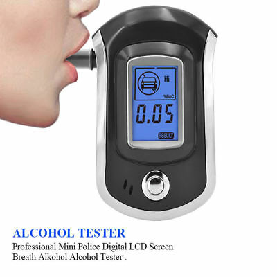 Advance Police Digital Breath Alcohol Tester LCD Breathalyzer Analyzer H1