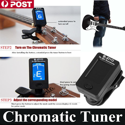 Clip On Chromatic Tuner Guitar Bass Banjo Ukulele Violin OUD Tuner JT-01 JOYO Zq