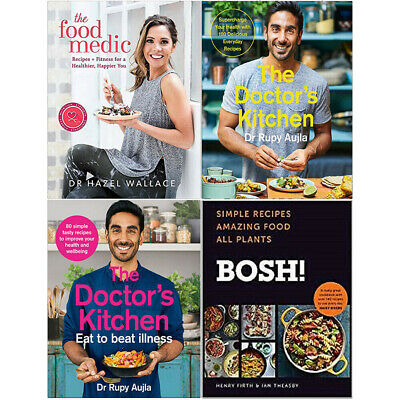 Food Medic,The Doctor's Kitchen,Eat to Beat Illness,BOSH 4 Books Collection Set