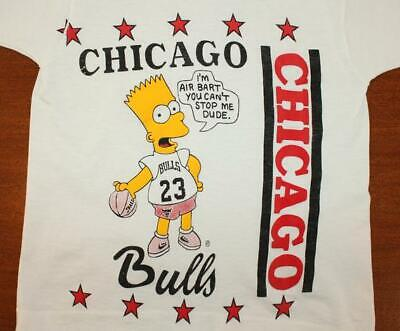 Air Bart Simpson Chicago Bulls vintage youth t-shirt basketball S-4XL B692