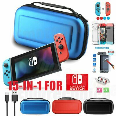 Travel Case Carrying Storage Bag for Nintendo Switch,Hard Cover,Screen Protector