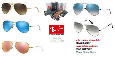 ray ban aviator 3025 neuf homme femme + Facture livraison rapide