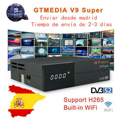 GTMedia V9 Super DVB-S2 Satellite Receiver H.265 Bult-in WiFi Full HD 1080P