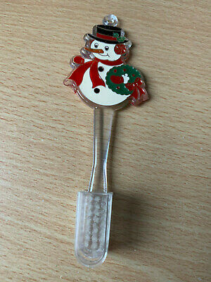 Child's Miniature Snowman Toothbrush with Bristle cover - new no tag