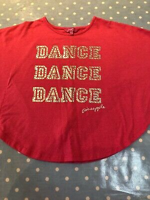 Pineapple Dance Studio Winged Pink Girls Top Age 7-8 Ex Condition