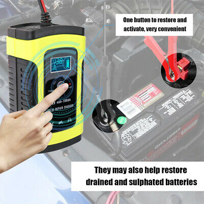 12V 5A Auto Motorcycle Car Truck Battery Charger Pulse Repair Lead Acid Starter