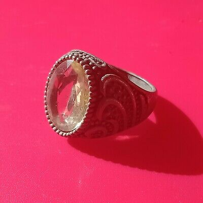Ancient Roman Silver Ring - Rare Red Stone