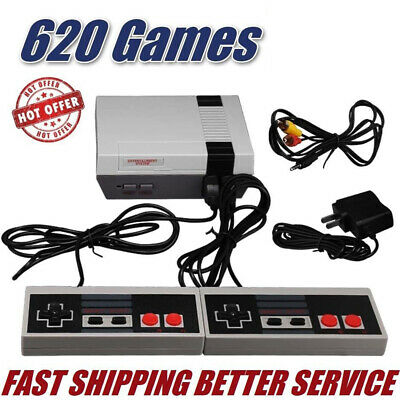 Retro Game Console 620 Built-in Mini Classic NES Kids Games with 2 Controllers