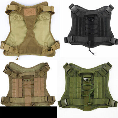 Tactical Dog Harness Outdoor Training Service Vest Pet T-Shirt Molle for Patches