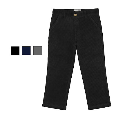 Buyless Fashion Boys Corduroy Pants Flat Front Straight Trousers Child Toddler