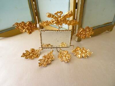 A Stunning Antique French Gilt Toleware Mirror Marriage Stand c.1890 (b)