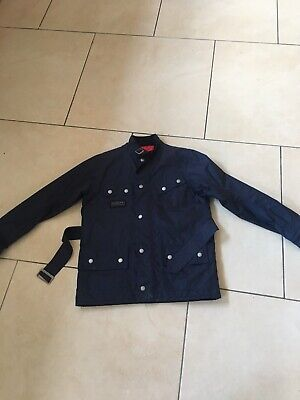 Barbour Girls Navy Waterproof Coat / jacket Size Large Age 10-11 Years