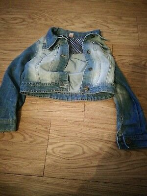 Girls Tu 7-8 Yrs Girls Light Blue Denim Jacket