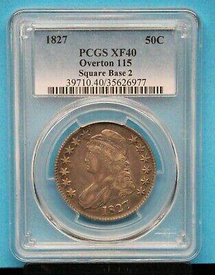 1827 PCGS CAPPED BUST HALF DOLLAR Sq Base 2 Graded XF40 PCGS # 39710.40/35626977