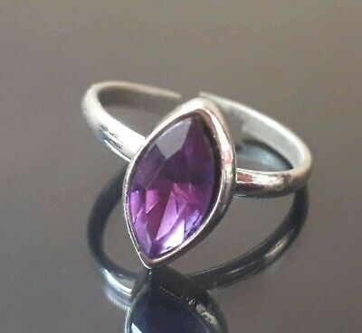 Ancient Ring Viking Artifact Authentic Rare Antique Jewelry Silver Purple Norse