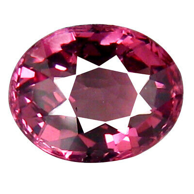 1.23 CT Luxe Coupe Ovale (7 X 6 mm) Tanzanie Rose Malaya Grenade Naturel Gemme