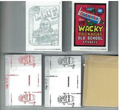 2019 Wacky Packages Old School 8th Series MASTER SET 151 CARDS ALL VARIATIONS