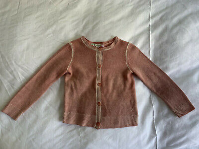 BONPOINT Girl's Pink 100% CASHMERE Cardigan. Age 3. Excellent Condition.