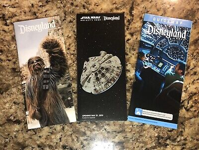 Star Wars Galaxys Edge Opening Day Disneyland Resort Map & Guide, Park Guide Map