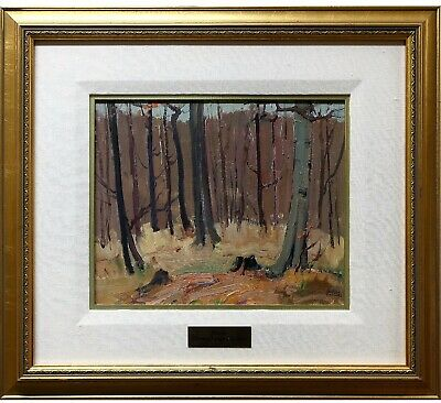 AUTUMN LANDSCAPE by L.T.DONGES (1901-1992).oil