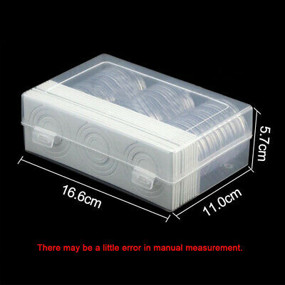 Coin Storage Box Clear PP Round Cases Capsules Holder For Coins