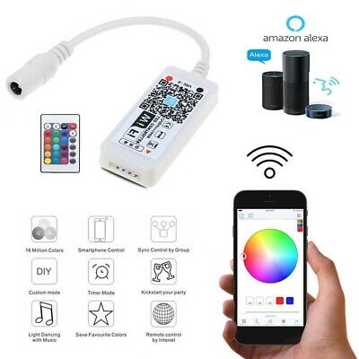 Mini RGBW RGB IR RF Wifi Controller For Led Strip Panel Light Alexa Google Home