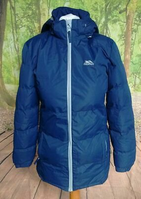 """Regatta waterproof quilted blue jacket. 21"""" pit-to-pit 30"""" length. Age 11 Age 12"""